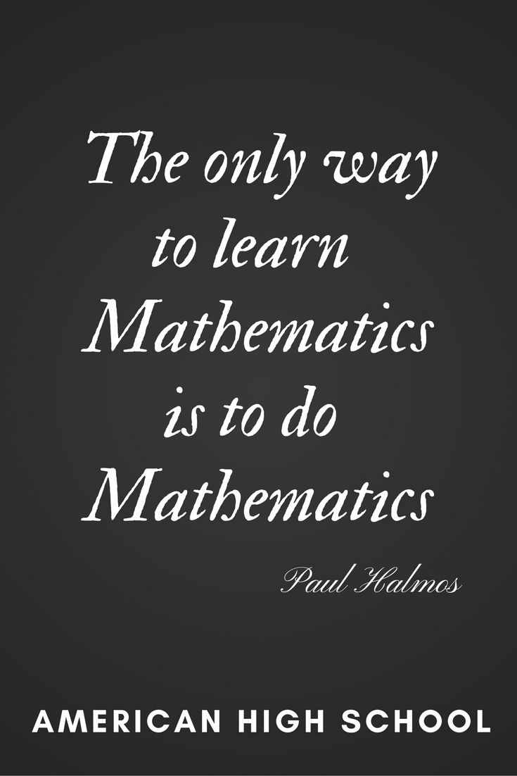 Mathematics | Online Middle School #onlinemiddleschool #math #quotes