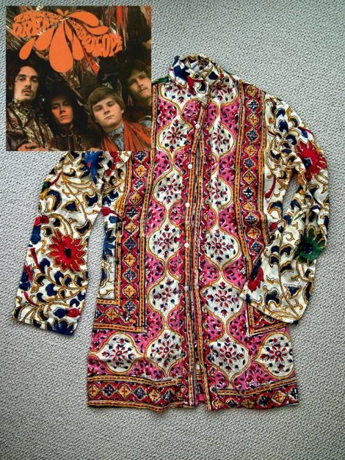 Shirt worn by Peter Daltrey of Kaleidoscope on cover of their first album, 'Tangerine Dream', 1967