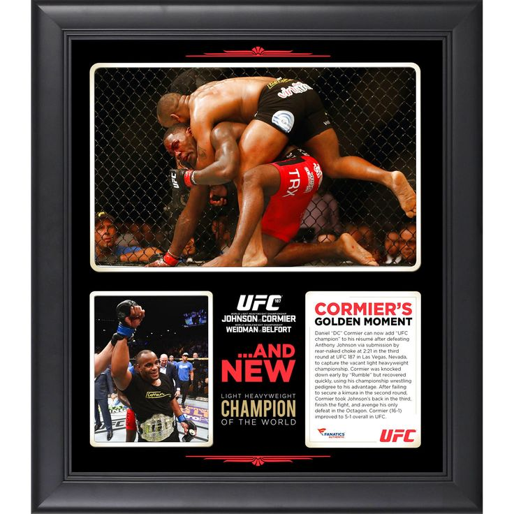 Daniel Cormier Ultimate Fighting Championship Fanatics Authentic Framed 15'' x 17'' UFC 187 New Light Heavyweight Champion Collage - $47.99