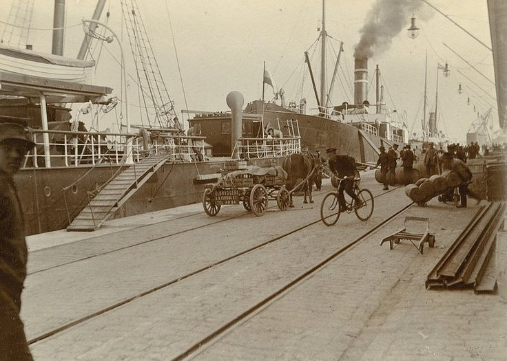 South Harbour in Helsinki, 1914, Foto Nils Wasastjerna