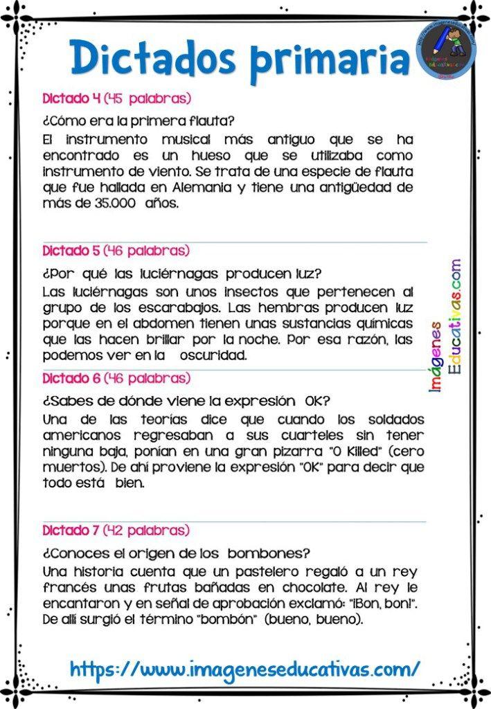 30 DICTADOS PARA PRIMARIA 1º 2º Y 3º CICLO (2 | ingles | Como ...