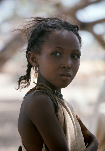 Nomadic Gabbra tribe. Kenya, Marsabit, Kalacha.Photo by Nigel Pavitt. Stock photo.