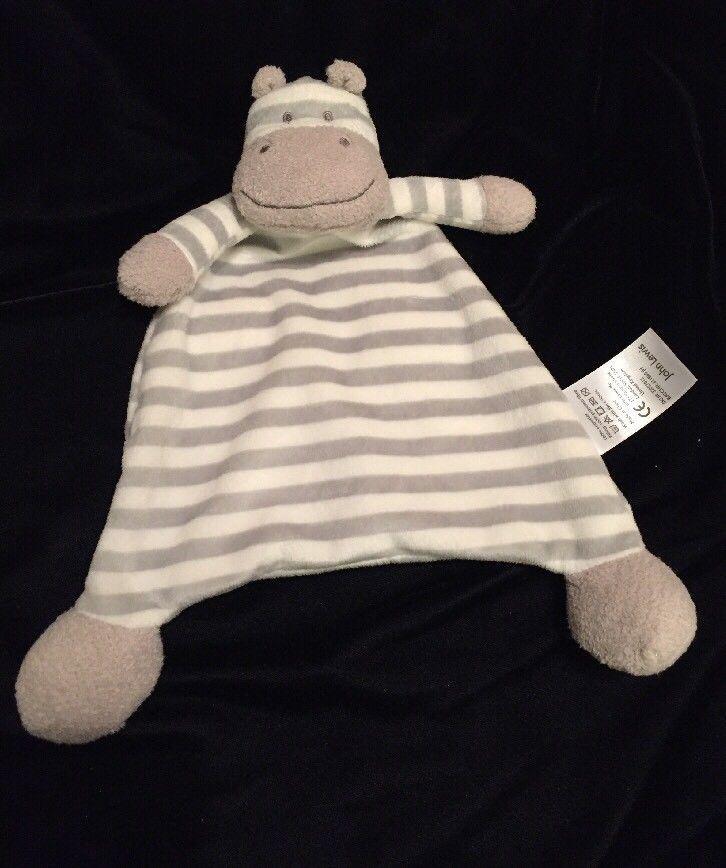John Lewis Stripe Zebra Blanket Comforter Grey White Soother