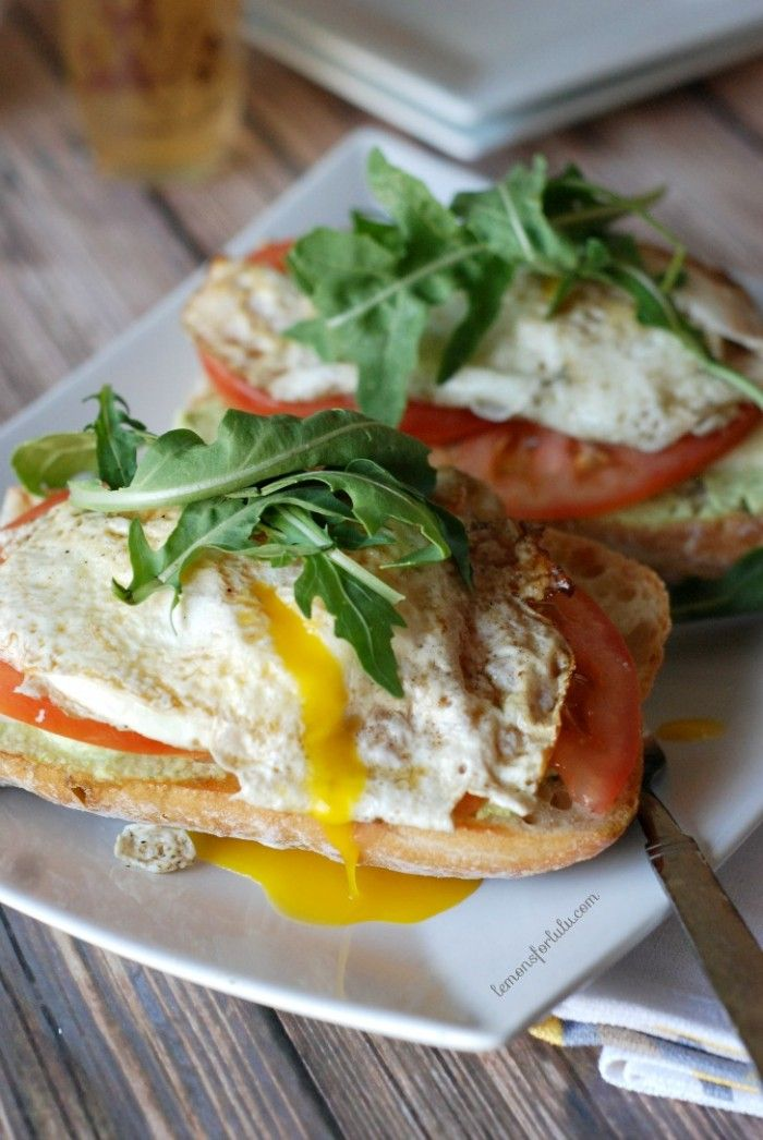 Open Faced Fried Egg + Edamame Sandwich | Lemons for Lulu