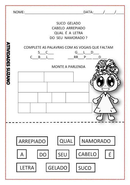ALFABETIZAÇÃO/ SUCO GELADO - Atividades Adriana                              …