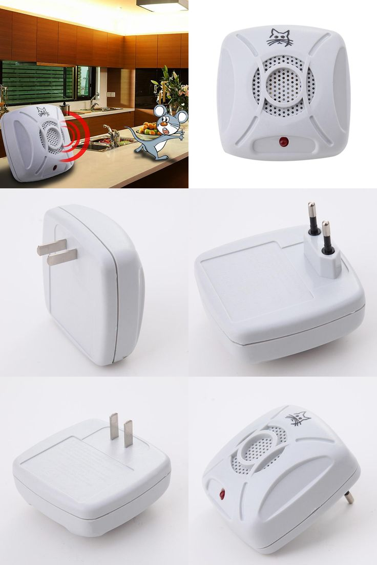[Visit to Buy] 110v-240v AC 50/60Hz Ultrasonic Electronic Pest Control Repeller Home Garden Rat Mosquito Mouse Insect Killer EU/US Plug  #Advertisement