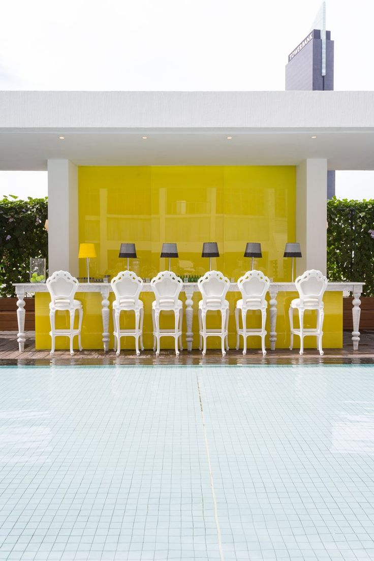 Yoo Panama, 2014 - Philippe Starck #outdoor #yellow #swimmingpool #bar