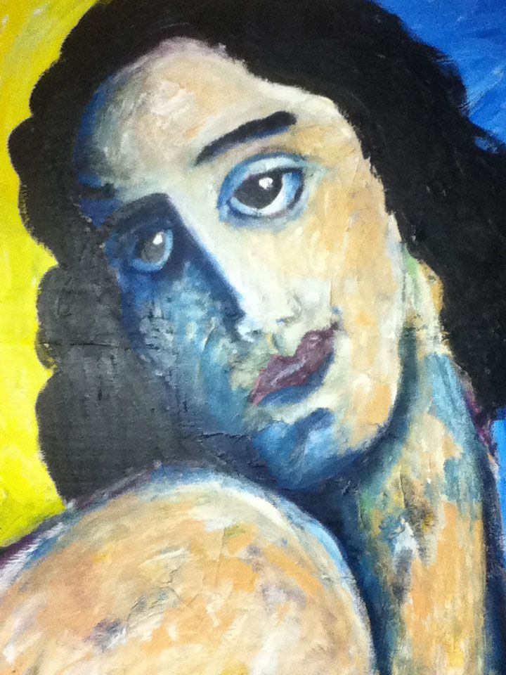 Woman Looking Over Shoulder by James Picard