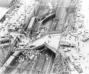 Packed with peak hour commuters on the morning of the 18th January 1977, the 6:02am train traveling from Mount Victoria in the Blue Mountains to Sydney city derailed just beyond Granville station. The runaway carriages crashed into the steel supports of the Bold Street bridge which crossed the train line above resulting in the heavy concrete bridge to fall onto the carriages below.    Claiming 283 lives and severely injuring over 200,this tragedy was the worst rail accident in Australian…