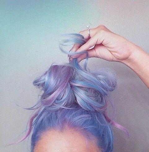fashion, grunge, hair, moda, purple, we heart it