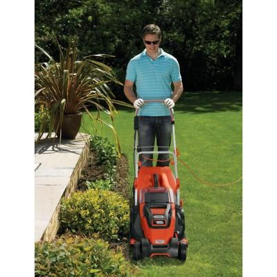 BLACK+DECKER 17 in. Walk-Behind Corded Electric Mower-EM1700 - The Home Depot