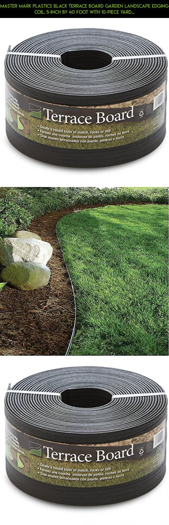 Master Mark Plastics Black Terrace Board Garden Landscape Edging Coil, 5-Inch By 40 Foot with 10-Piece Yard Landscape Stakes #shopping #milk #bags #technology #kit #drone #parts #camera #plans #racing #products #storage #tech #gadgets #fpv