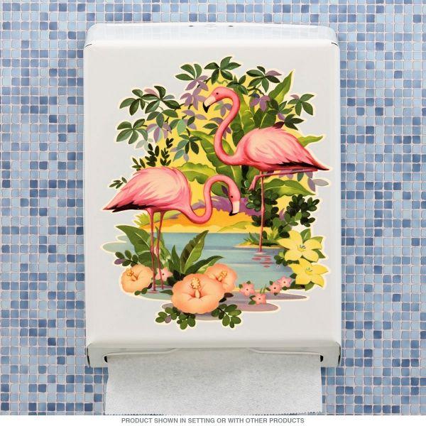 Flamingos Tropical Paper Towel Dispenser - Retro Planet