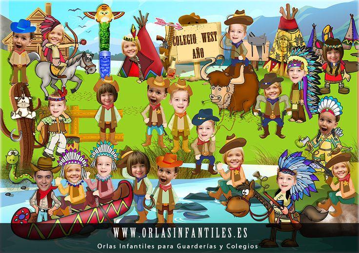 Leuk voor de schoolkrant, thema indianen kleuters / Orla-Infantil-Oeste