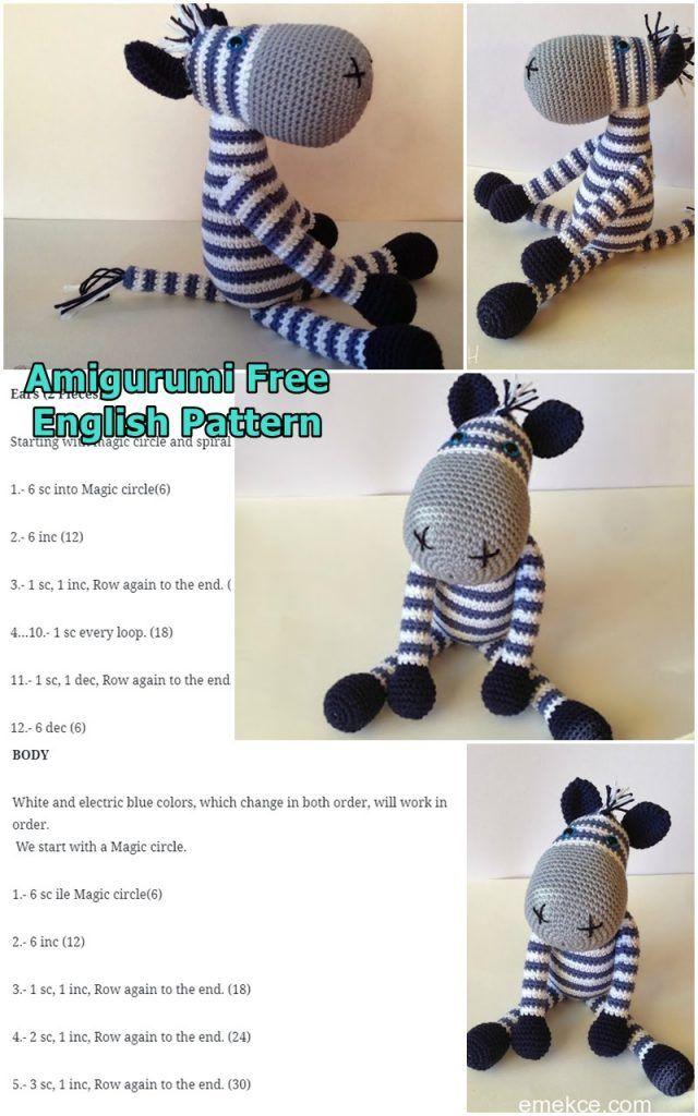 Zane the Zebra Free Amigurumi Pattern   Jess Huff   1024x640