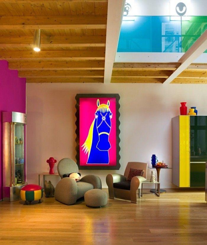 Farbgestaltung Wohnung Fluoreszierende Farbe