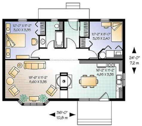 Plano casa 80 m2 buscar con google casas pinterest for Planos google