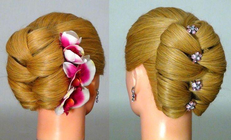 Прическа для длинных волос на Новый год!  Hairstyle for New Year (+playl...
