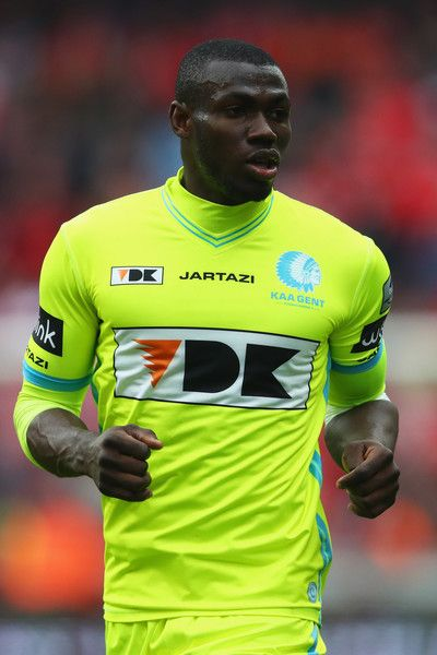 Anderson Esiti of K.A.A. Gent in action during the Belgian Jupiler Pro League match between Royal Standard de Liege and KAA Gent held at Stade Maurice Dufrasne on February 19, 2017 in Liege, Belgium.