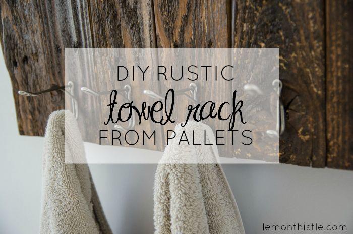 DIY: TOWEL RACK FROM FREE PALLET WOOD