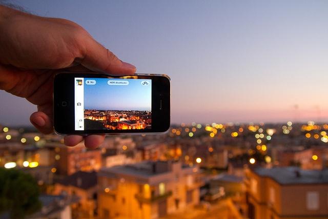 City via iPhone