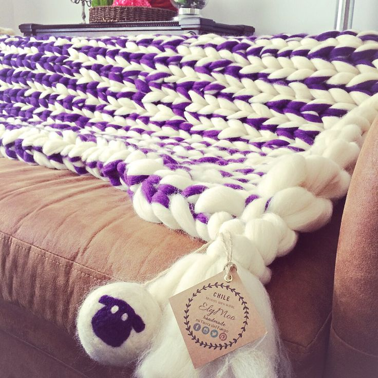 Arm Knitting #manta xxl desde la Patagonia chilena#tejidos artesanales