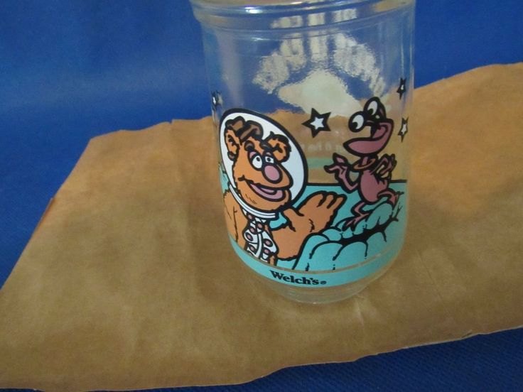 Muppets in Space – Fozzie Bear Gets a Giggle Welch's Jelly Jar 1998 #Welchs