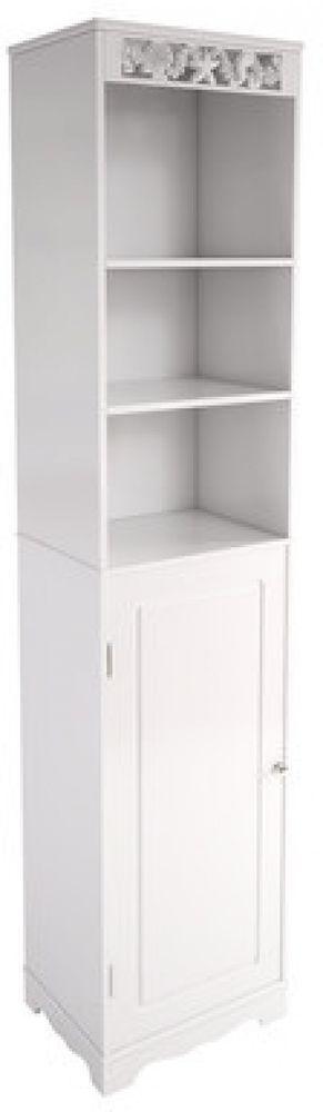 Bathroom Free Standing Tall Cabinet Furniture Sturdy Shelves New 40 X 169.5  Cm