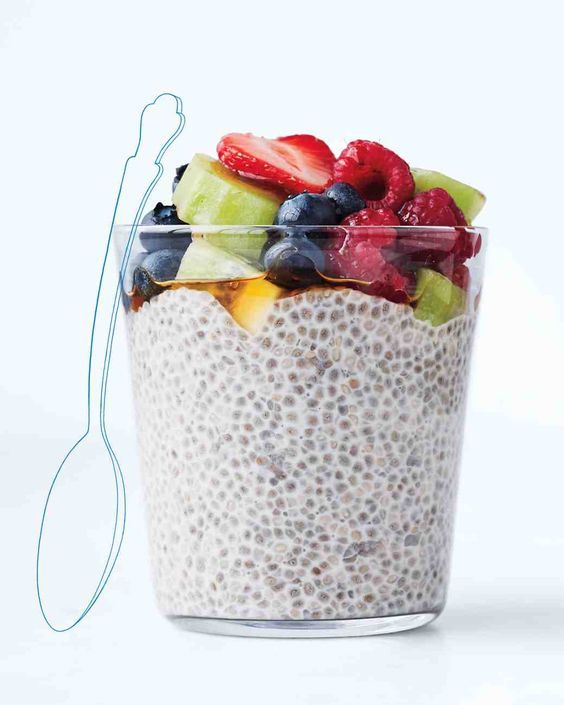 Soaked Chia Seeds: This make-ahead mix lets you power up with omega-3s, fiber, and protein. You've no doubt heard all the buzz about nutrient-packed chia seeds. Well, here's a super-easy way to include them in your daily routine || Martha Stewart Living: