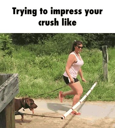 Trying to impress your crush like GIF