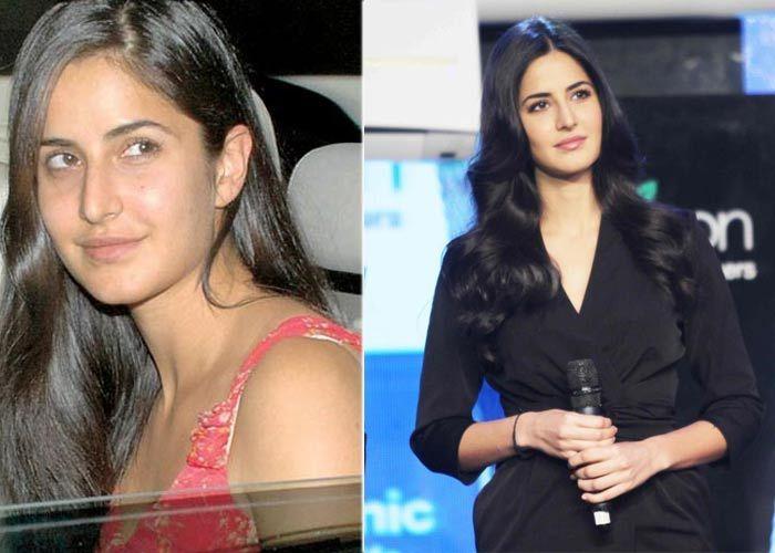 Katrina Kaif without and with makeup still