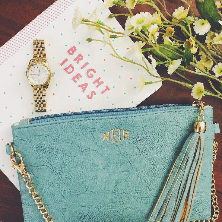 Monogrammed Downtown Tassel Purse from Marleylilly.com
