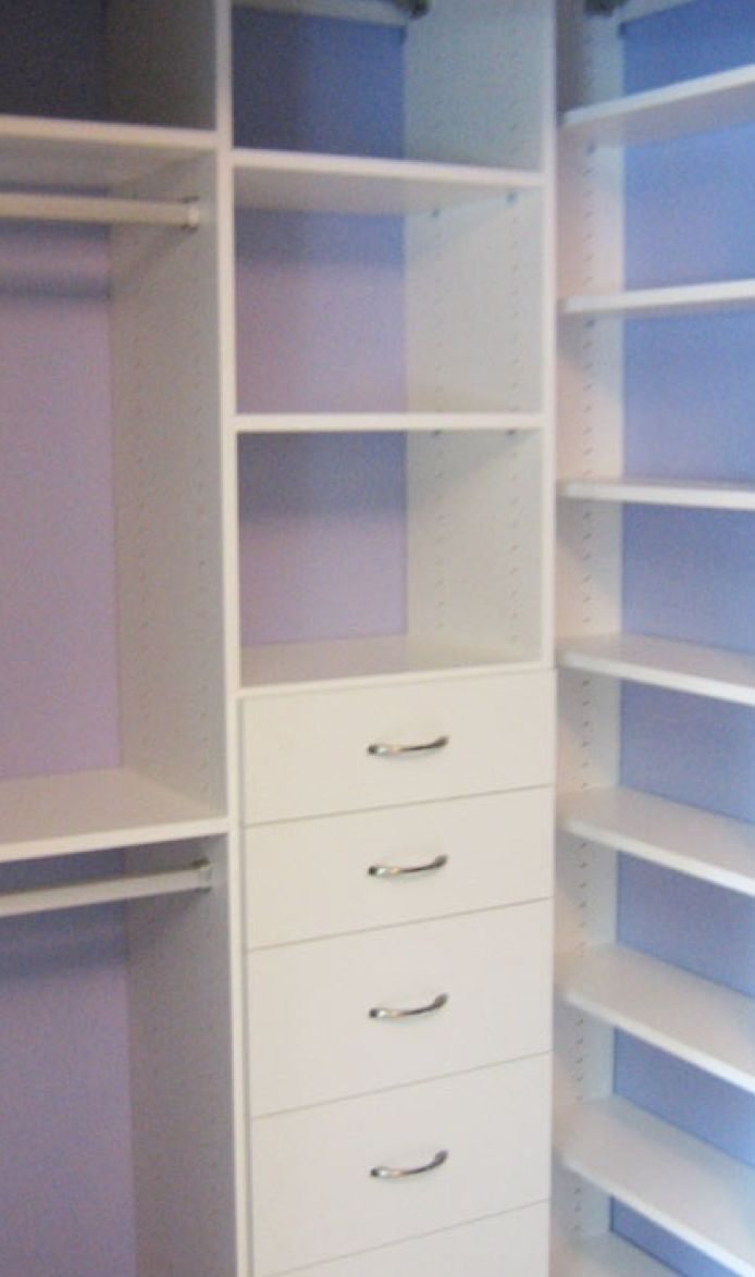 A California Closets System In Crisp White Can Still Have Major Style!  Consider Leaving The