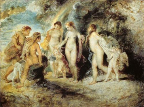 The Judgement of Paris. Peter Paul Rubens. Museo Nacional del Prado. Madrid, Spain.