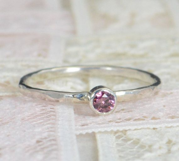 Alexandrite Engagement Ring Sterling Silver Alexandrite