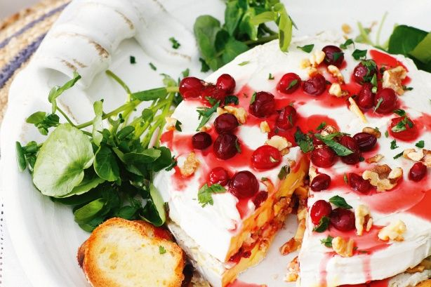 This Cranberry and walnut brie is perfect for summer entertaining.