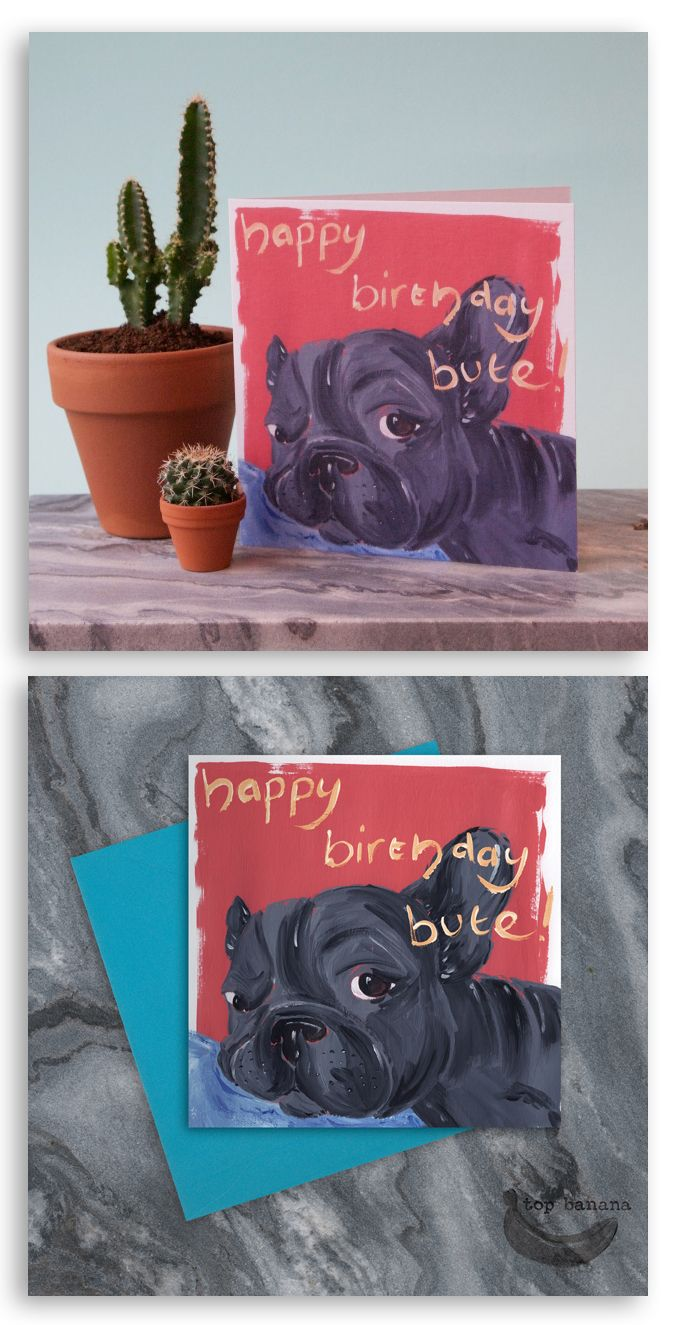 Top banana greeting card companies card companies and envelopes tb007 happy birthday bute pug greetings card 150mm x 150mm comes with turquoise envelope blank inside ready for your text all cards designed and m4hsunfo