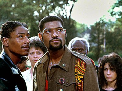 School Daze is a 1988 American musical-drama film, written and directed by Spike Lee, and starring Laurence Fishburne, Giancarlo Esposito, and Tisha Campbell-Martin.