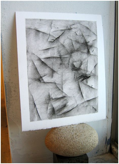 ...a very nice and messy project using paper scraps to create an abstract drawing