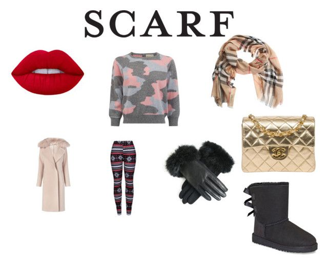 """Scarf"" by fadumahassan on Polyvore featuring WithChic, Burberry, Diane Von Furstenberg, UGG and Chanel"