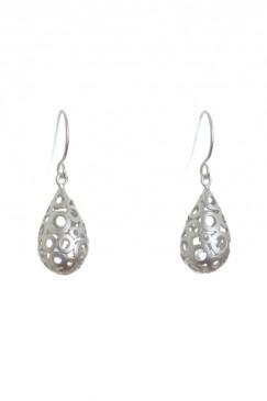 Bubble teardrops (silver)