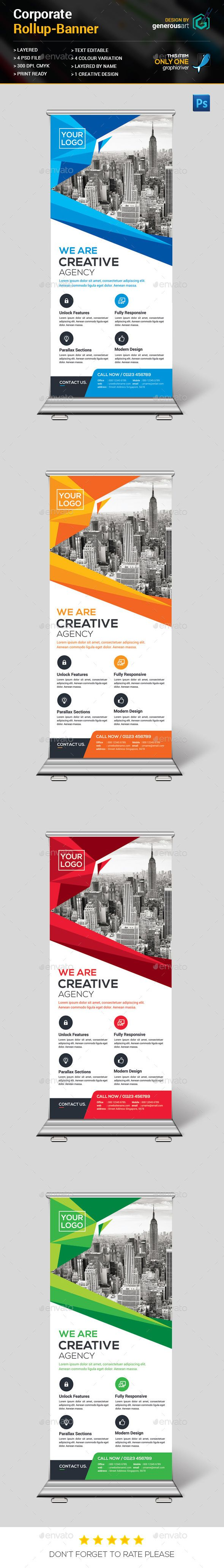 Corporate Rollup Banner Template PSD #design Download: http://graphicriver.net/item/corporate-rollup-banner/13386736?ref=ksioks