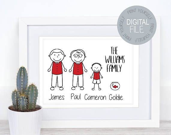 Check out this item in my Etsy shop https://www.etsy.com/uk/listing/557960867/lgbt-personalised-family-wall-art