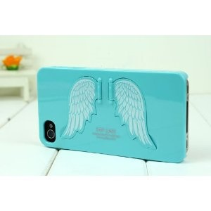 Cute Bracket Angel wing iPhone 4 4s Case/iphone cover (Skyblue)