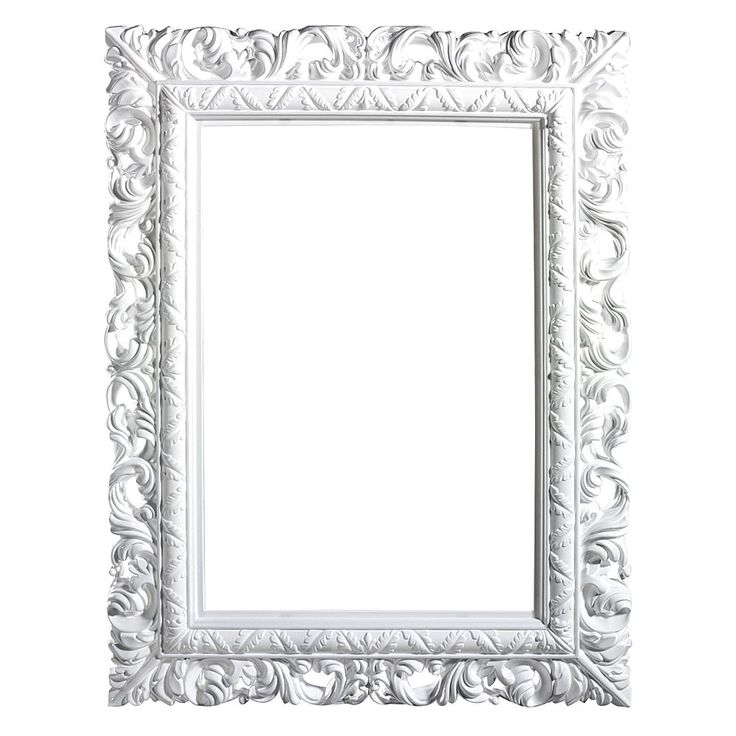 Cadre Photo Baroque Blanc