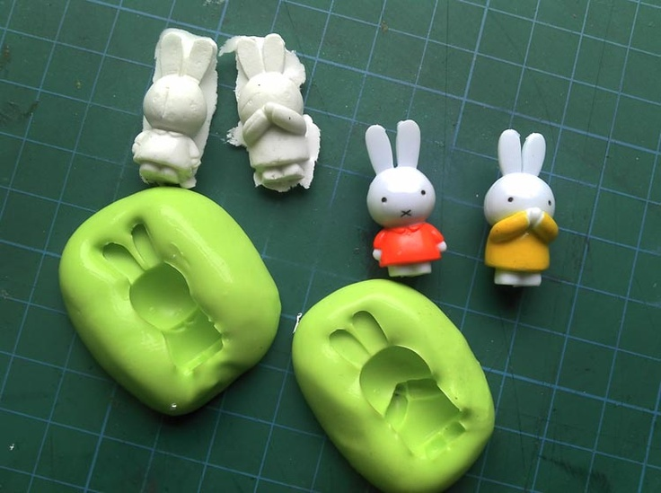 Moulds from Nijntje charms.