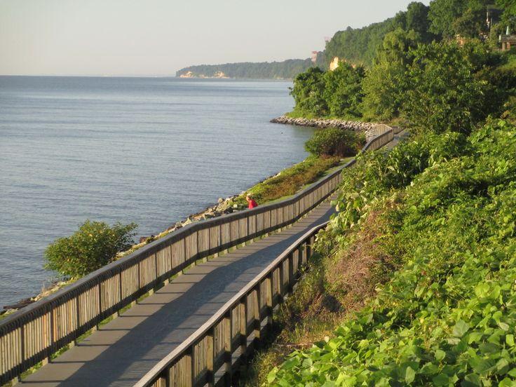 Boardwalk In Chesapeake Beach To Brownies Beach