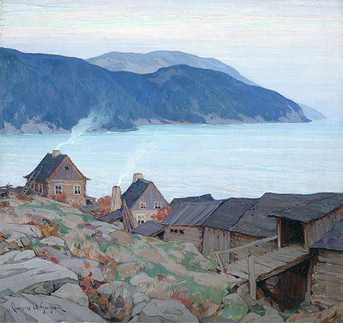 Evening on the North Shore,1924 | Clarence Gagnon | National Gallery of Art Ottawa Canada