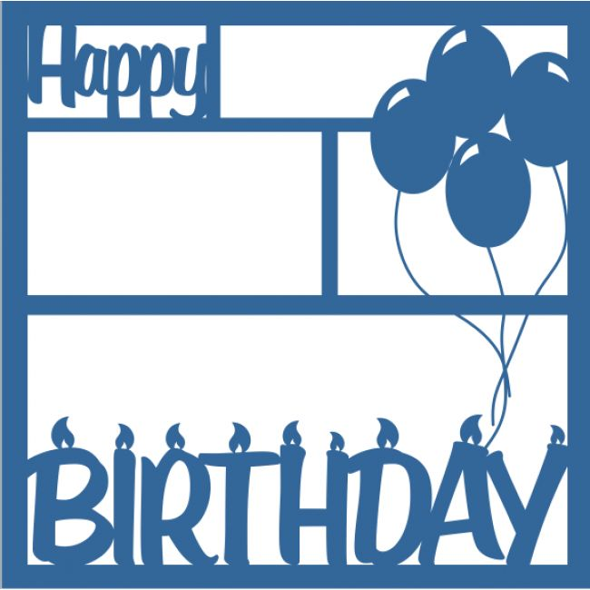 276 best birthday scrapbooking images on pinterest scrapbook happy birthday candlesballoons 12 x 12 laser die cut scrapbook overlay pronofoot35fo Gallery