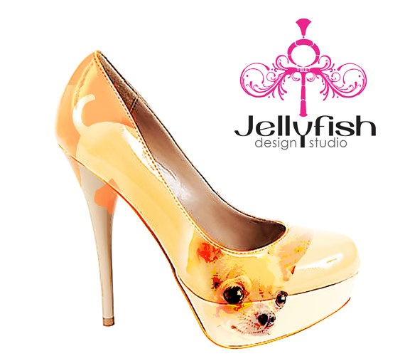 Hand painted Chihuahua shoes...LOL  Nice to know I'm not the only one Chihuahua obsessed!  LOL